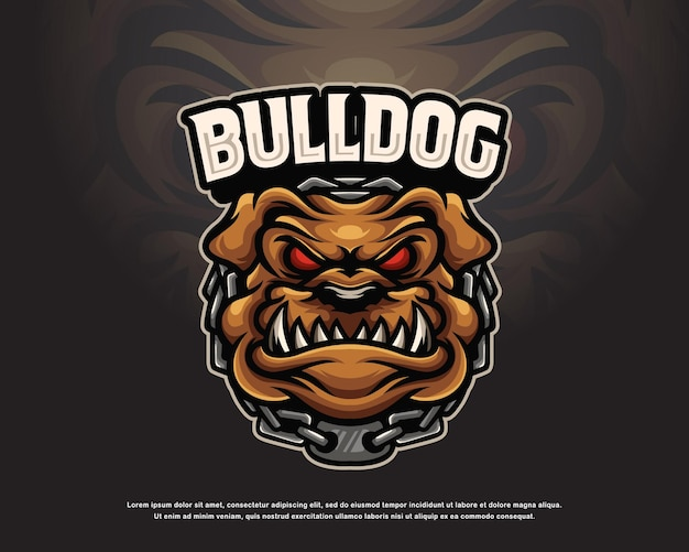 Design do logotipo do bulldog mascote