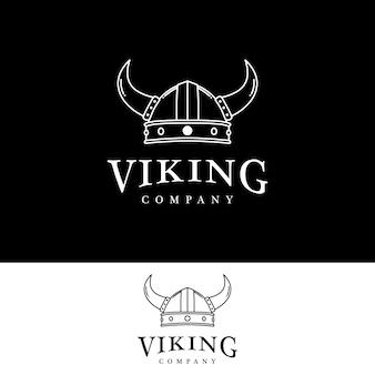 Design do logotipo do capacete viking armor