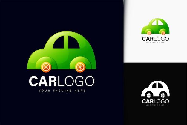 Design do logotipo do carro com gradiente