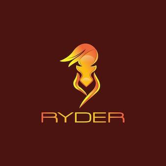 Design do logotipo do cavalo de fogo