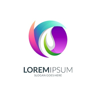 Design do logotipo do círculo abstrato