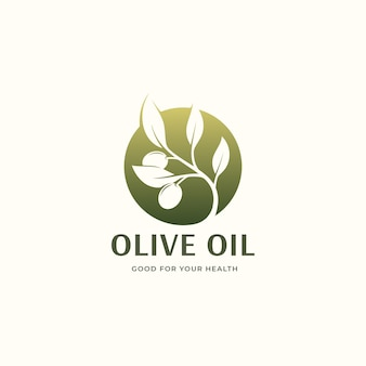Design do logotipo do círculo de azeite verde