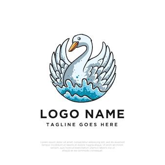 Design do logotipo do cisne