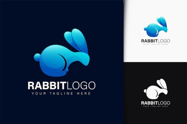 Design do logotipo do coelho com gradiente