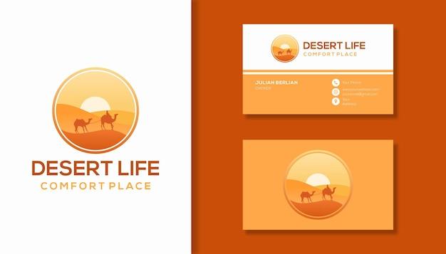 Design do logotipo do deserto
