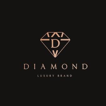 Design do logotipo do diamante