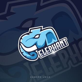 Design do logotipo do elefante mascote esport