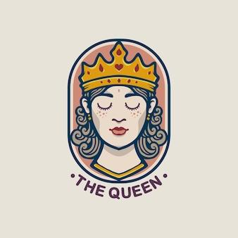 Design do logotipo do emblema da rainha
