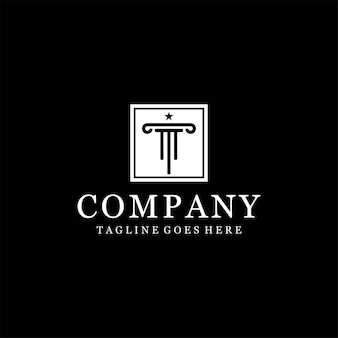 Design do logotipo do escritório de advocacia da letra inicial t
