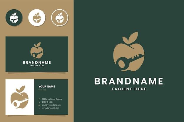 Design do logotipo do espaço negativo chave da apple