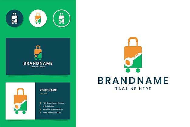 Design do logotipo do espaço negativo chave para viagens