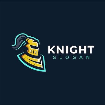 Design do logotipo do esporte da armadura de cavaleiro
