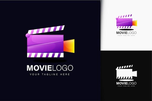Design do logotipo do filme com gradiente