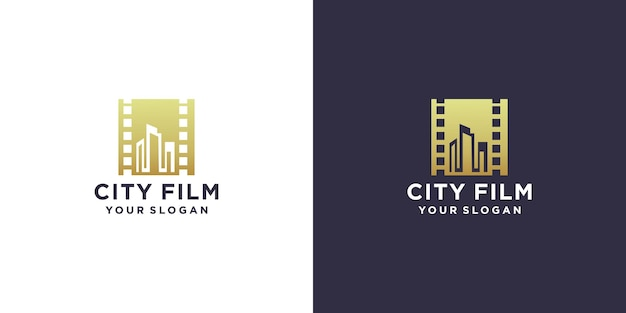 Design do logotipo do filme da cidade