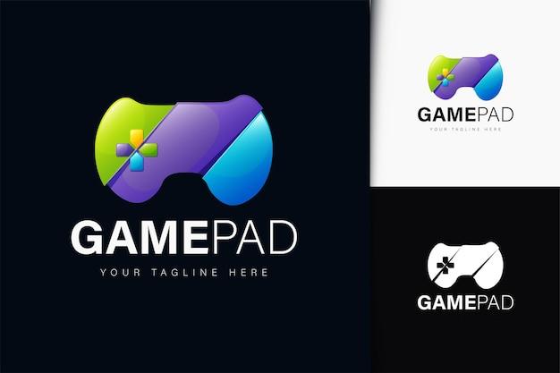 Design do logotipo do gamepad com gradiente