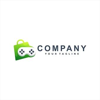 Design do logotipo do gradiente de cor do jogo