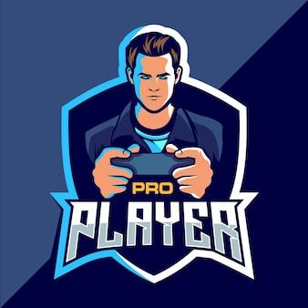 Design do logotipo do jogo pro player esport