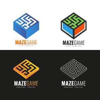 Design do logotipo do labirinto