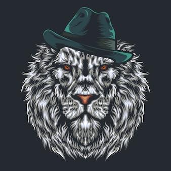 Design do logotipo do leão da cabeça