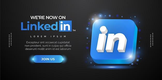 Design do logotipo do linkedin para a promoção do seu portfólio