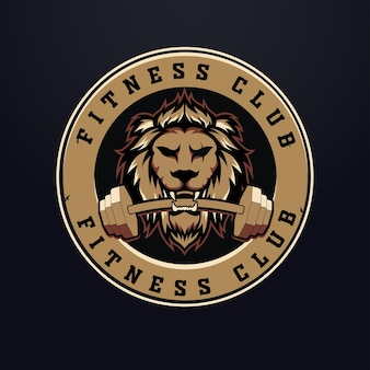 Design do logotipo do lion fitness w