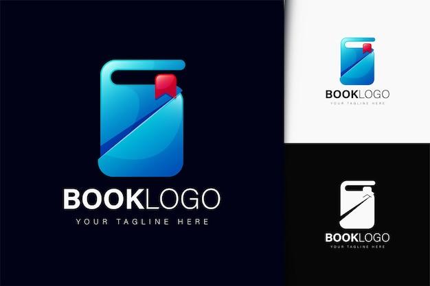 Design do logotipo do livro com gradiente