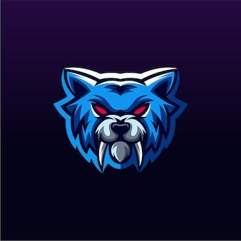 Design do logotipo do lobo