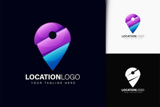 Design do logotipo do local com gradiente
