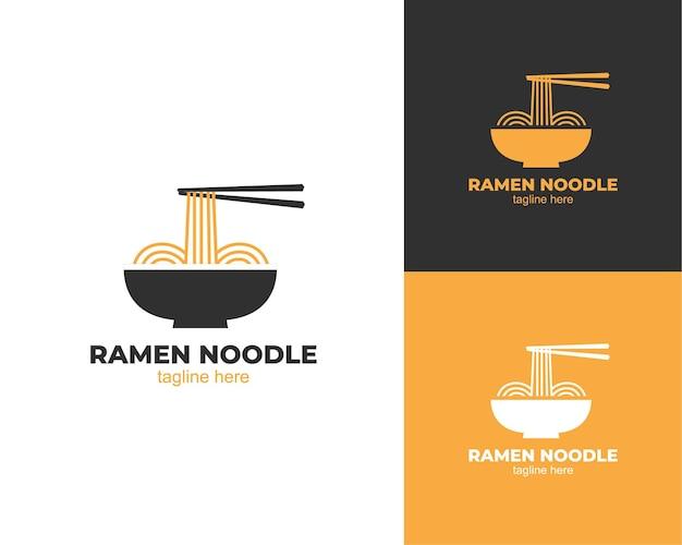 Design do logotipo do macarrão ramen