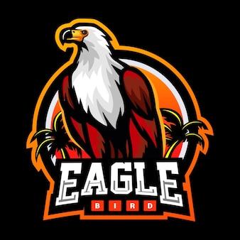 Design do logotipo do mascote águia pássaro