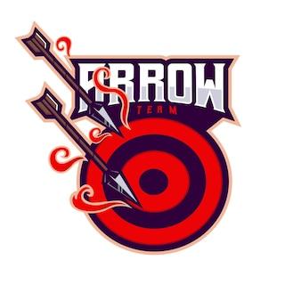 Design do logotipo do mascote arrow esport