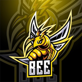 Design do logotipo do mascote bee esport