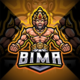 Design do logotipo do mascote bima esport