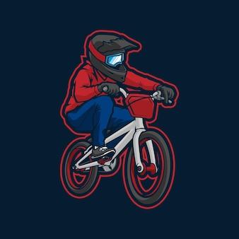 Design do logotipo do mascote bmx
