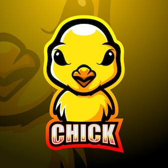 Design do logotipo do mascote chicks