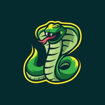 Design do logotipo do mascote da cobra