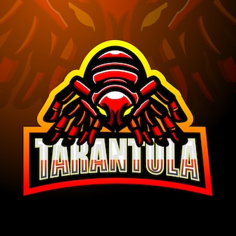 Design do logotipo do mascote da tarântula esport