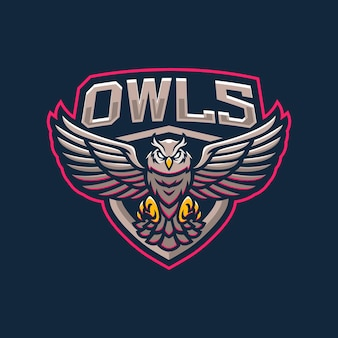 Design do logotipo do mascote das corujas