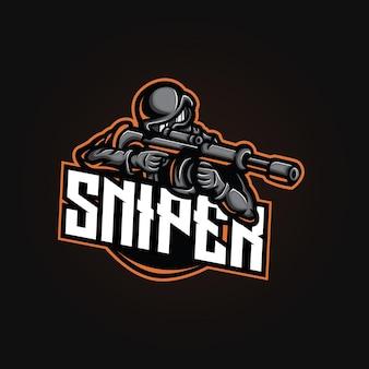 Design do logotipo do mascote do atirador furtivo