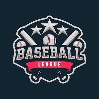 Design do logotipo do mascote do beisebol