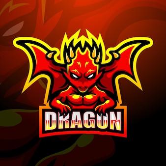 Design do logotipo do mascote do dragão
