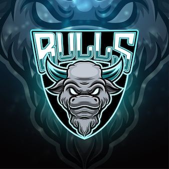 Design do logotipo do mascote do esporte bulls