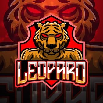 Design do logotipo do mascote do esporte leopardo