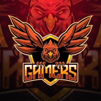 Design do logotipo do mascote do esporte para jogadores