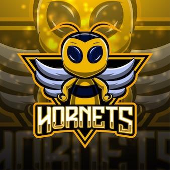 Design do logotipo do mascote do hornets esport