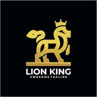 Design do logotipo do mascote do leão