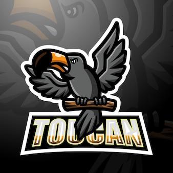 Design do logotipo do mascote do tucano