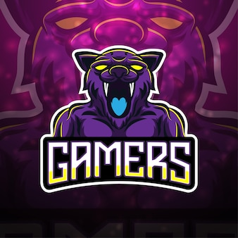 Design do logotipo do mascote dos jogadores esport