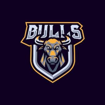Design do logotipo do mascote dos touros