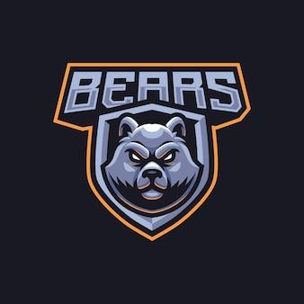 Design do logotipo do mascote dos ursos